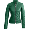 STUNNING GREEN WOMEN'S QUILTED LEATHER JACKET - 外套 - 214.00€  ~ ¥1,669.46