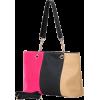 SUCHIN Tri-Tone Embossed Woven Pattern Fashion Double Chain Top Handle Hobo Handbag Shopper Tote Satchel Purse Shoulder Bag w/Shoulder Strap Pink - Hand bag - $25.50  ~ £19.38