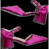 SUZANNE RAE pink satin shoes - Klasični čevlji -