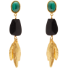 SYLVIA TOLEDANO  Malachite drop clip ear - Earrings -