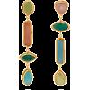 SYLVIA TOLEDANO  Multi-stone drop clip e - Earrings -