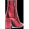 Saint Laurent  Metallic Leather Booties - Čizme -