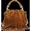 Saint Laurent Suede Fringe Bag - Carteras -