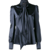 Saint Laurent neck-tie blouse - Camisa - curtas -