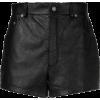 Saint Laurent short leather shorts - Shorts - $3,475.00  ~ 2,984.63€