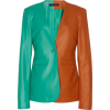 Sally LaPointe Colorblocked Leather Jack - Jacket - coats - $2,610.00