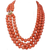Salmon beads with ruby clasp - Necklaces -