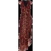 Saloni Anita Ruffled Fil Coupé Chiffon M - Dresses - $685.00