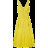 Saloni Yellow Midi Dress - Vestiti -