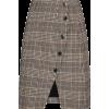 Sandro Check wool cotton-blend miniskirt - Krila -