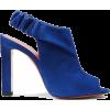 Santoni Suede Peep Toe Ankle bootie - Stivali - $99.00  ~ 85.03€