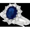 Sapphire Diamond Ring - Rings -