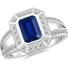 Sapphire Engagement Ring - Rings - $6,169.00
