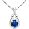 Sapphire Infinity Knot Pendant - Ogrlice - $2,559.00  ~ 16.256,23kn