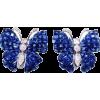 Sapphire & diamond butterfly earrings - Uhani - $5,700.00  ~ 4,895.65€