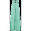 Sara Battagliabelted check palazzo pants - Pantalones Capri -