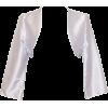 Satin Bolero Jacket Cover-Up Formal Prom Bridesmaid Junior Plus Size Silver - Kurtka - $24.99  ~ 21.46€