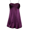 Satin Prom Bubble Mini Holiday Gown Party Formal Cocktail Dress Bridesmaid Purple - Dresses - $49.99