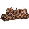 Satin Striped Bow Clutch Evening Bag Purse Beige - Clutch bags - $34.99