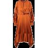 Satin midi dress - Dresses -