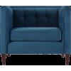 Satin teal arm chair - Furniture -