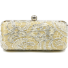 Scarleton Lace Minaudiere With Crystals H3023 Gold - Clutch bags - $19.99