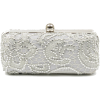 Scarleton Lace Minaudiere With Crystals H3023 Silver - バッグ クラッチバッグ - $25.99  ~ ¥2,925