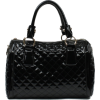 Scarleton Quilted Patent Faux Leather Satchel H1064 Black - Bolsas pequenas - $29.99  ~ 25.76€