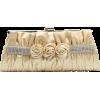 Scarleton Satin Clutch with Rhinestones and Roses H3064 Gold - Torbe z zaponko - $14.99  ~ 12.87€