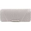 Scarleton Satin Flap Clutch With Crystals H3017 Silver - Clutch bags - $19.99