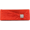 Scarleton Satin Flap Clutch With Crystals H3020 Red - Clutch bags - $15.00