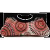 Scarleton Wood Framed Embroidered Clutch H3001 Orange - バッグ クラッチバッグ - $19.99  ~ ¥2,250