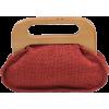 Scarleton Wood Framed Linen Clutch H3036 Red - Borse con fibbia - $19.99  ~ 17.17€