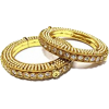 Screw Gold Bangles  - Hat - $80.00