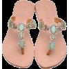 Sea Foam Dreams Jeweled Sandals - Sandals -