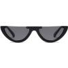 Semilunar Semi-Rimless Sunglasses - Blac - Sunglasses -