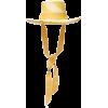 Sensi Studio Dumont Striped Grosgrain-Tr - Sombreros -