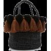Sensi Studio Tassel Baby Straw Bag - Carteras -