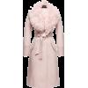 Sentaler Blush Long Coat with Fur Collar - Jacket - coats -