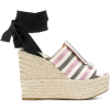 Sergio Rossi Striped ankle tie sandals - Сандали -