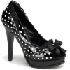 Sexy Black Patent Polka Dot Open Toe Pump - 5 - Sandals - $51.00