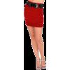 Sexy High Waist Wide Belt Formal Officewear Straight Pencil Cut Mini Skirt - Spudnice - $19.99  ~ 17.17€