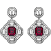 Sheila Swarovski Earrings - Earrings -