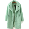 Sheinside mint woolen coat - Jacket - coats -