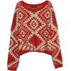 Sheinside printed red jumper - Pullovers -
