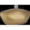 Shimmer Sprinkle Leatherette Rhinestone Closure Boat shaped Hard Case Clutch Baguette Evening Handbag Purse w/2 Detachable Chains Gold - Schnalltaschen - $29.99  ~ 25.76€