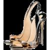 Shiny Animal Print Heel - Classic shoes & Pumps -