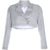 Shiny jacket loose short-sleeved top - Shirts - $27.99