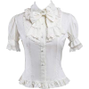 Short Sleeve White Lolita Blouse - Shirts -