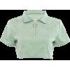 Short-sleeved umbilical zipper half open - Koszule - krótkie - $19.99  ~ 17.17€